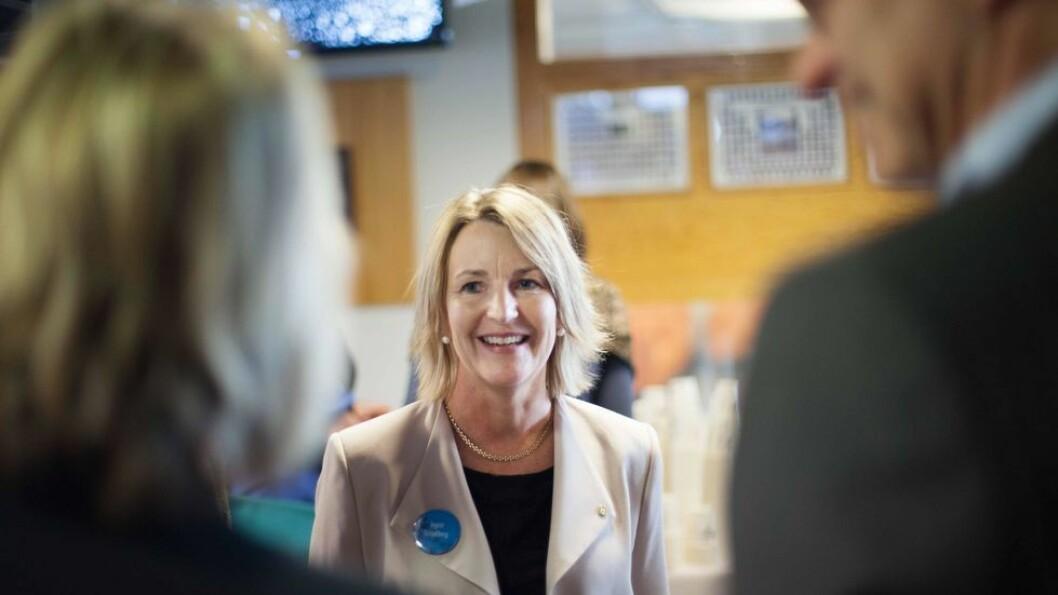 Dekan Ingrid Schjølberg sa hun var hoppende glad da det ble kjent at fakultetet skal lede fire nye SFI-er. (Arkivbilde)
