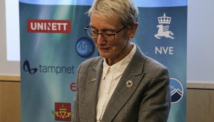 Rektor Anne Borg fikk æren av å klippe snora. Og herved er SFI Centre for Geophysical Forecasting åpnet.