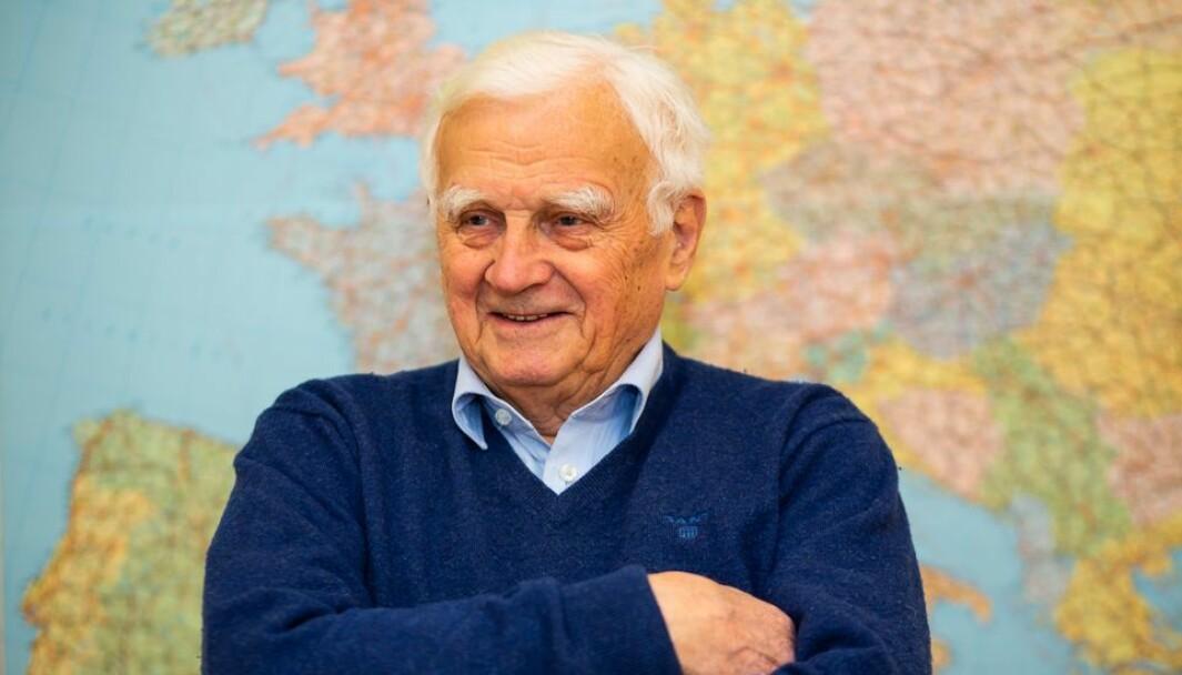Magne Lamvik fylte 90 år i november og kan se tilbake på begivenhetsrike år ved NTH.