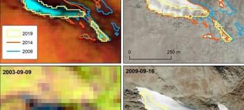 Utforsker snøfonner fra satellitt