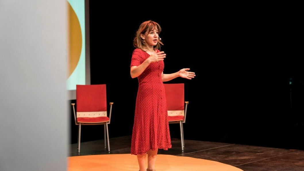 Zeynep Tufekci, her under vitenfestivalen The Big Challenge i Trondheim i fjor, hvor hun snakket om «Sannheten i den digitale verden.» - Algoritmene fungerer som portvoktere til vår oppmerksomhet, sa hun på link under NxtMedia-konferansen forrige uke.