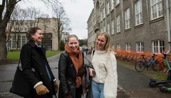 Helene Tveit, Idunn Huuse Farmen og Rebekka Jåtun hadde hørt mye om studentopplevelsen NTNU pleier å by på. Den ble de snytt for.