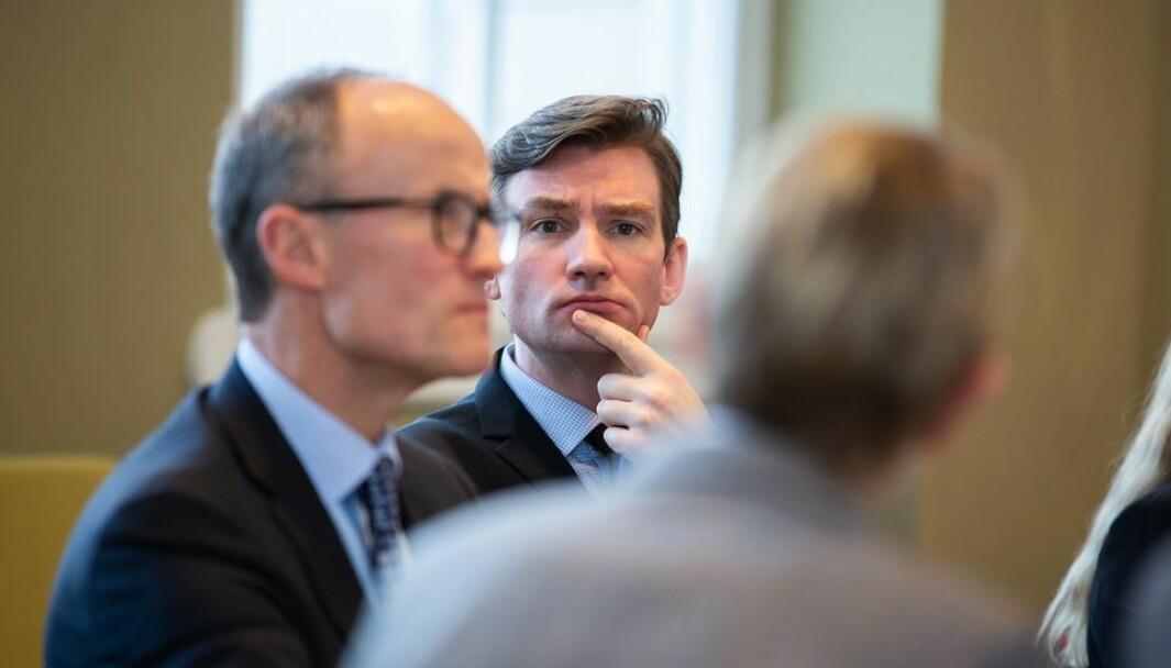Statsråd Henrik Asheim har hatt nok å tenke over i arbeidet med ny lov for universitets- og høyskolesektoren.