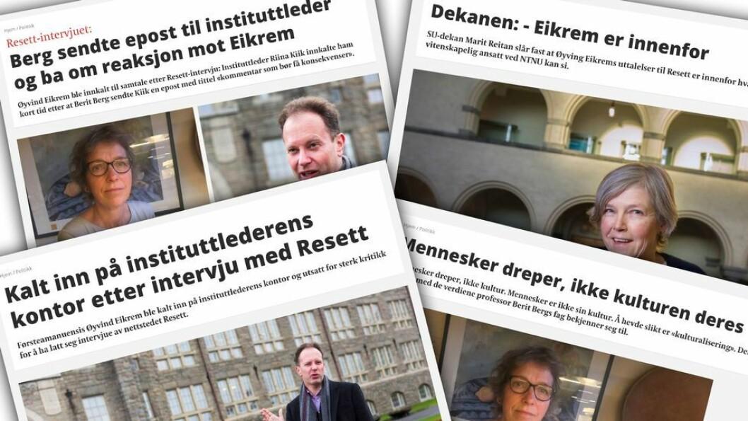 Nærmere to år har gått siden UAs oppslag om at Øyvind Eikrem var kalt inn på instituttlederens teppe i forbindelse med sine uttalelser om et dobbeltdrap i Trondheim. De siste månedene har fokuset vært på arbeidsgivers gjennomgang av hans PC. Den saken ruller fortsatt.