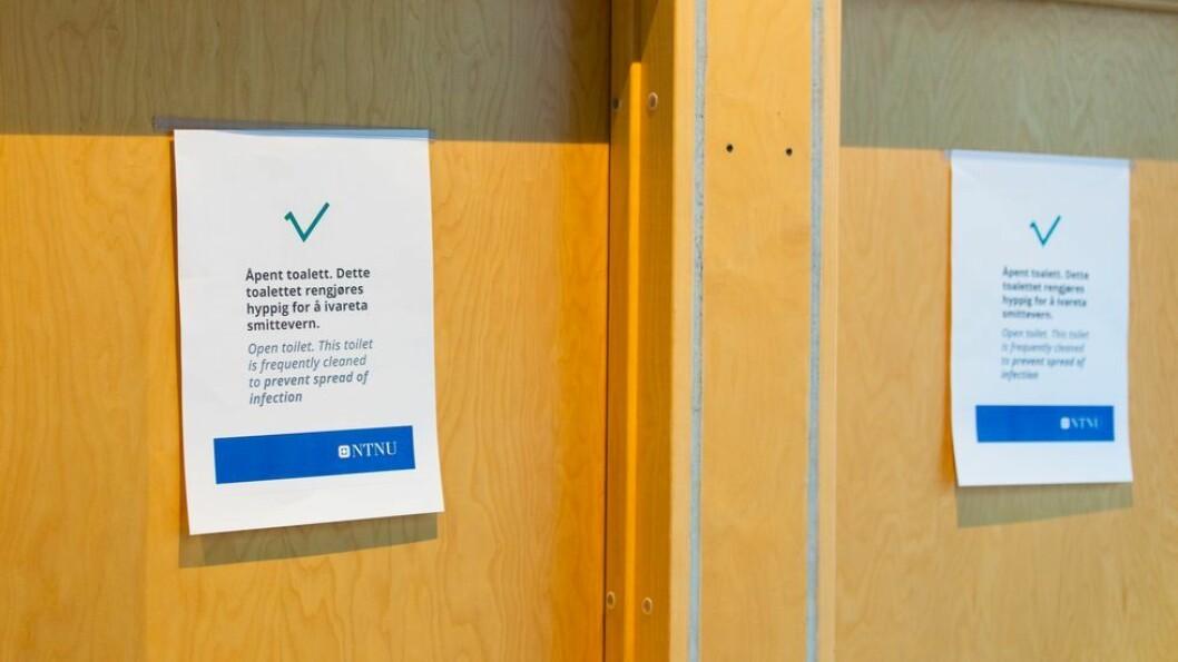 To nye studenter er smittet, men det er ikke behov for smittesporing ved NTNU, siden de ikke har vært på campus de siste dagene.