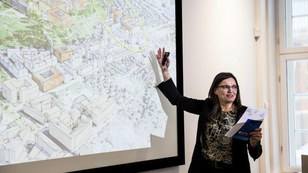 Prosjektdirektør for campusutvikling ved NTNU, Merete Kvidal, sier arbeidet med forprosjektet blir mer krevende dersom regjeringens forslag til bevilgning blir vedtatt.
