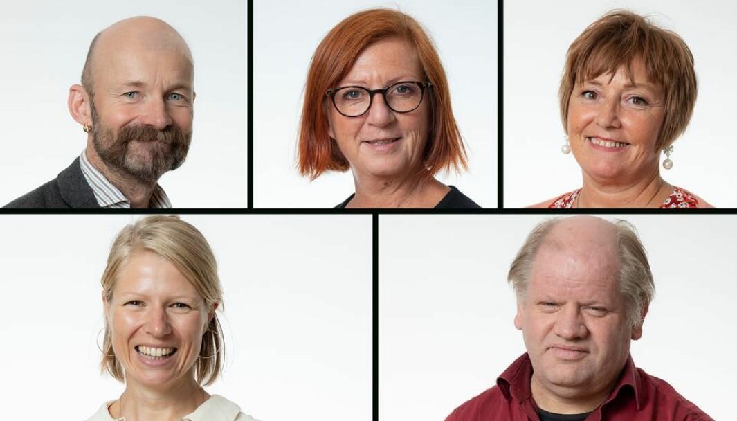 Her er ansattrepresentantene i det nåværende NTNU-styret: Aksel Tjora, Kjersti Møller, Kristin Melum Eide, Ingvill Stuvøy og Tim Torvatn.