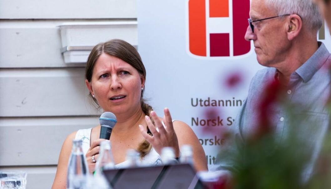 Forhandlingsleder Guro Elisabeth Lind sier staten ga dem et tilbud som i realiteten ville betydd at viktige statsansatte måtte gå ned i lønn.