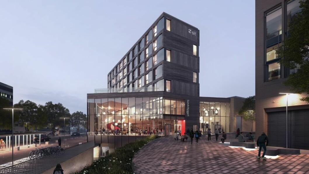 Slik ser arkitektene for seg at Sundebygget skal se ut.