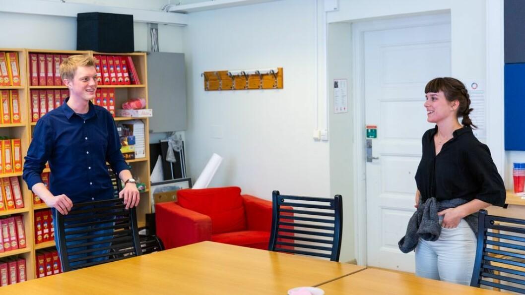 Nye styremedlemmer: Både Simen Ringdahl og Mathilde Eiksund har vært på utveksling i USA. Da så de hva som i hvert fall er én av NTNUs styrker.