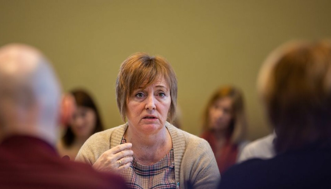 Kristin Melum Eide, her fra et tidligere styremøte, tok til orde for færre høringer under torsdagens diskusjon om medvirkning og medbestemmelse ved NTNU.