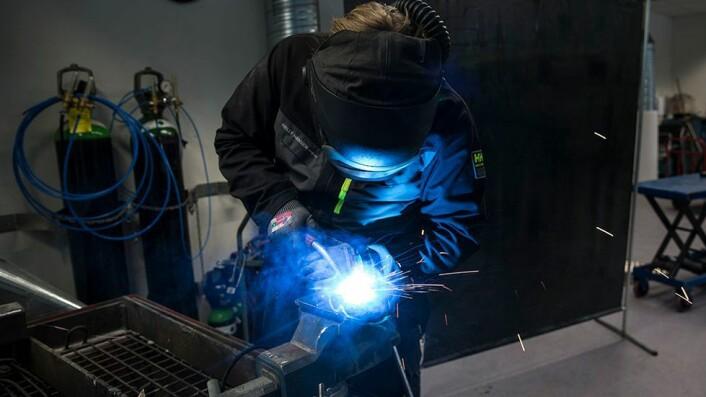 Benjamin Foss Hansen liker at han kan konstruere ting som faktisk blir tatt i bruk etterpå.