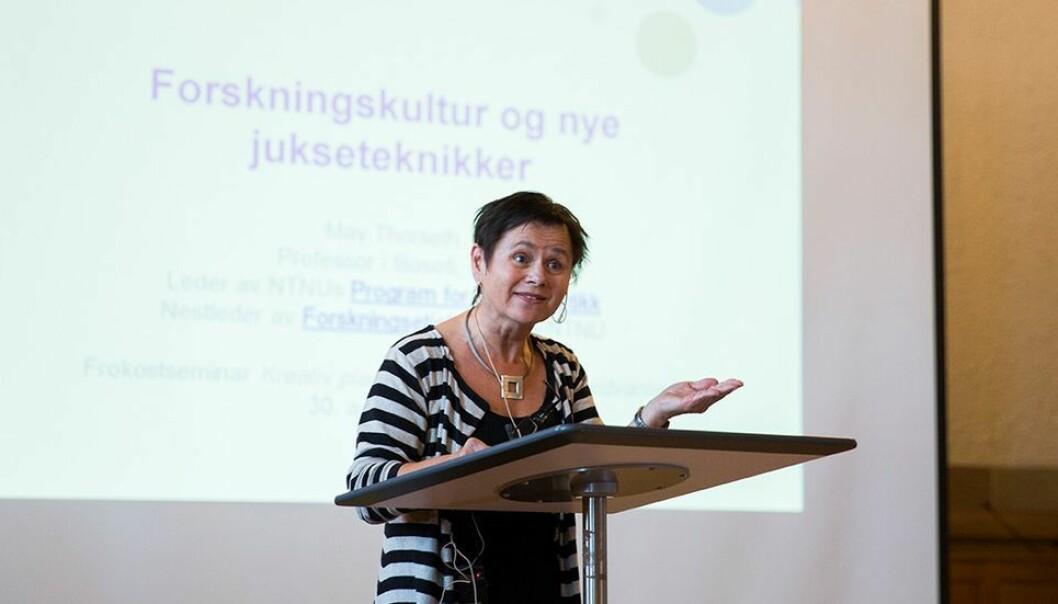 Filosofiske May Thorseth om egne og kollegers reaksjoner på at hun ble vraket da hun søkte stillingen som leder for Institutt for filosofi og religionsvitenskap.