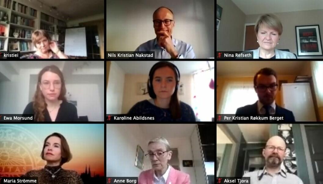 Også NTNUs styre må teste ut nye møteverktøy: I dag foregikk styremøtet via Zoom.