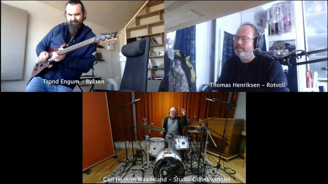 De har øvd sammen fra hvert sitt studio - nå er de snart klare for å spille med musikere i New York.