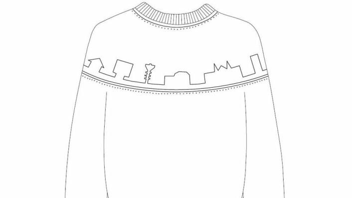 Designet av Nanna Helland Berger, linjeforeningsgenser
