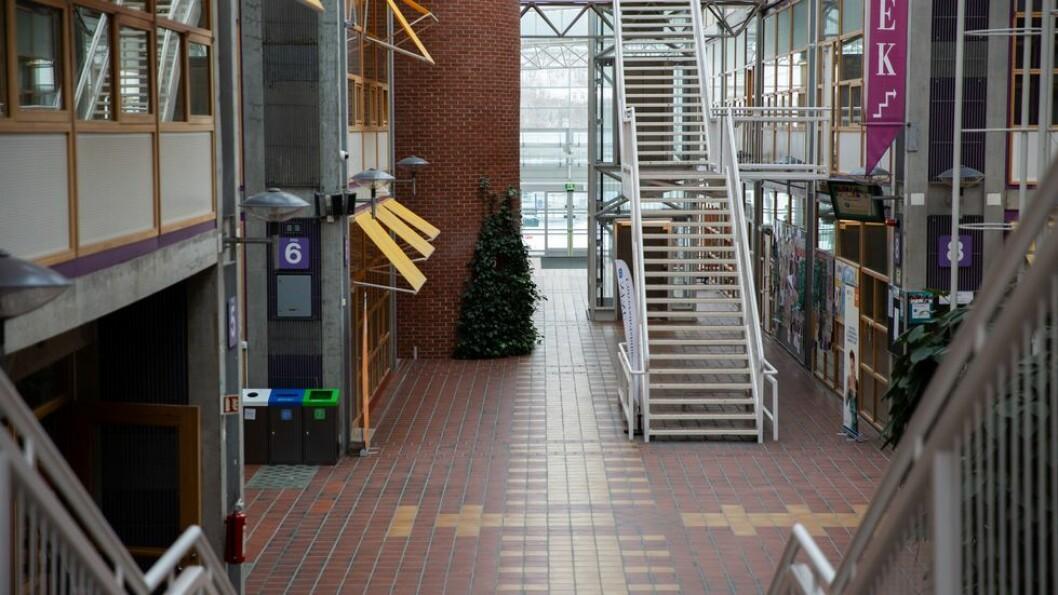 Pandemistengt Campus Dragvoll medio mars 2020: På et tidspunkt må NTNUs ledelse beslutte å la i det minste en del av studentene få vende tilbake, skriver UA på lederplass.