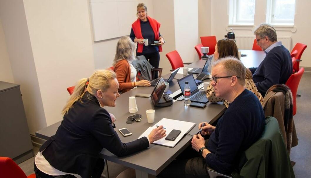 Organisasjonsdirektør Ida Munkeby under onsdagens beredskapsmøte om Koronakrisen.