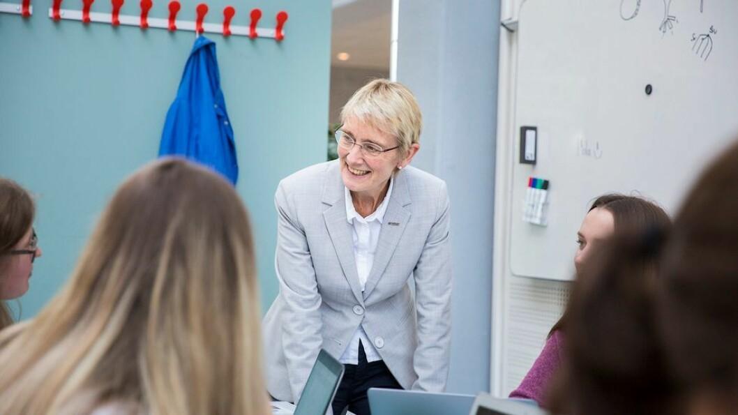 Konstituert rektor Anne Borg er svært fornøyd med statsbudsjettet. Bildet er tatt ved en tidligere anledning.