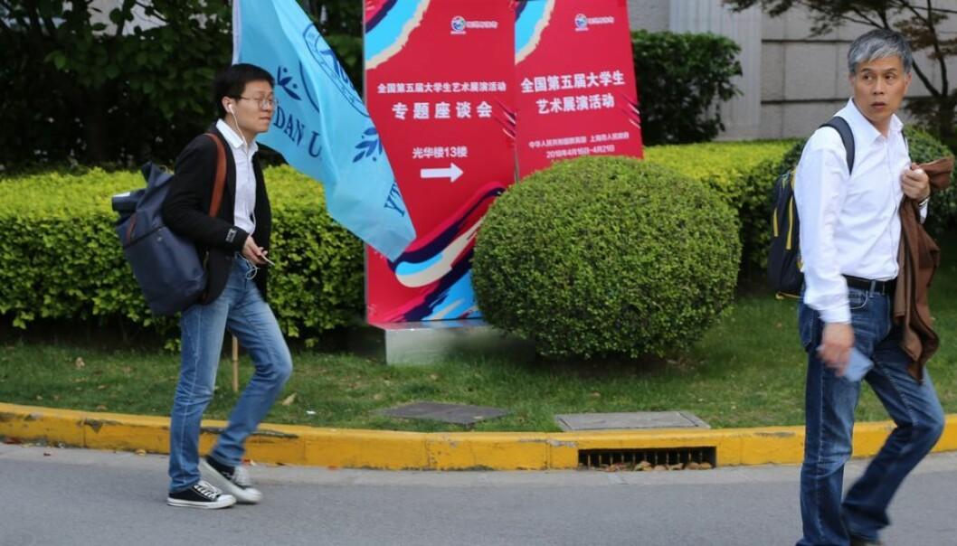 Studenter ved Fudan-universitetet i Shanghai på vei til forelesning: UiO har oppretta eit såkalla Fudan-europeisk senter for kinastudier. Henrik Asheim forsvarer tiltaket.