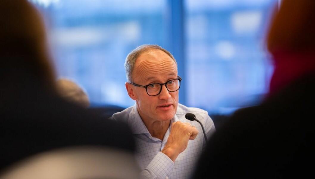 Nils Kristian Nakstad og resten av NTNU-styret samlet seg digitalt i forrige uke for en orientering fra rektor Anne Borg.