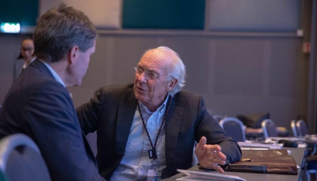Behøves mer eller mindre forskning på teknologi, når spørsmålet er hvordan redde klimaet? John-Arne Røttingen (til venstre) og Jørgen Randers ser ulikt på saken.