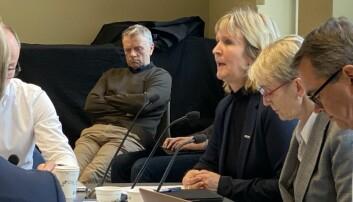 Konflikten ved Institutt for historiske studier ble så tilspisset at styret delte det i to. IHS-professor Hans Otto Frøland deltok som tilhører på styremøtet i oktober 2019 .