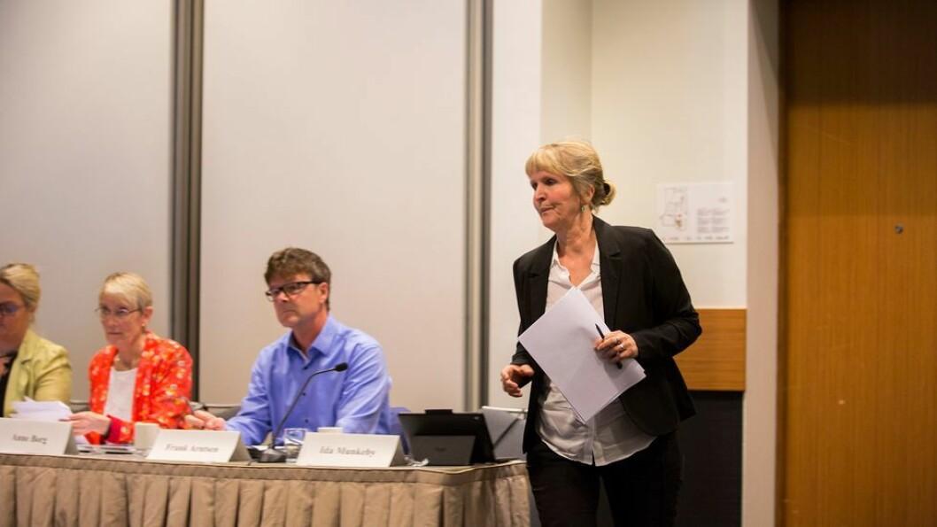 Organisasjonsdirektør Ida Munkeby (til høyre) er sentral når IHS-konflikten legges fram for NTNTU-styret kommende torsdag. Konstituert rektor Anne Borg (til venstre) får en vanskelig sak på bordet.