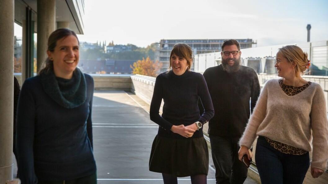 De har vært med å bygge opp en slagkraftig organisasjon, fra venstre: Katrien De Moor, Ingeborg Palm Helland, Michael Francis Duch og Kathrine Røe Redalen.