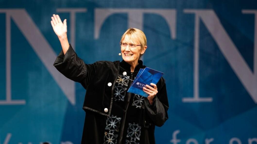 Bytter prorektorkappe med rektorkappe: Anne Borg, her under immatrikuleringen i Gjøvik: Onsdag er hun der igjen, da for å overta som konstituert rektor.