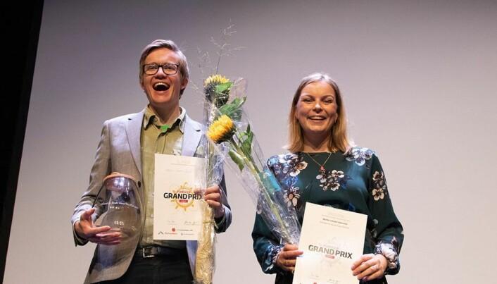 Vinnerne av den regionale finalen i Forsker Grand Prix i Oslo ble Halvor Høen Hval og Marthe Lefsaker Sakrisvold.