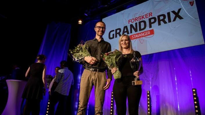 May Linn Auestad kom på førsteplass i den regionale finalen i Forsker Grand Prix i Stavanger. Hun fikk følge av James Thomson i finalen.