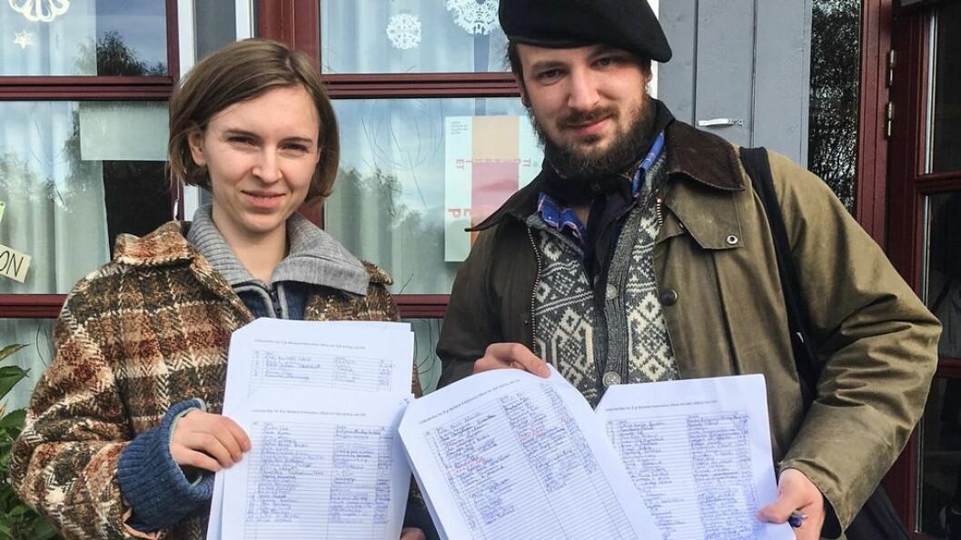 Mona S. Mehus og Eivind Rindal har stått i spissen for underskriftskampanjen for å beholde Barbara Krawcowicz.