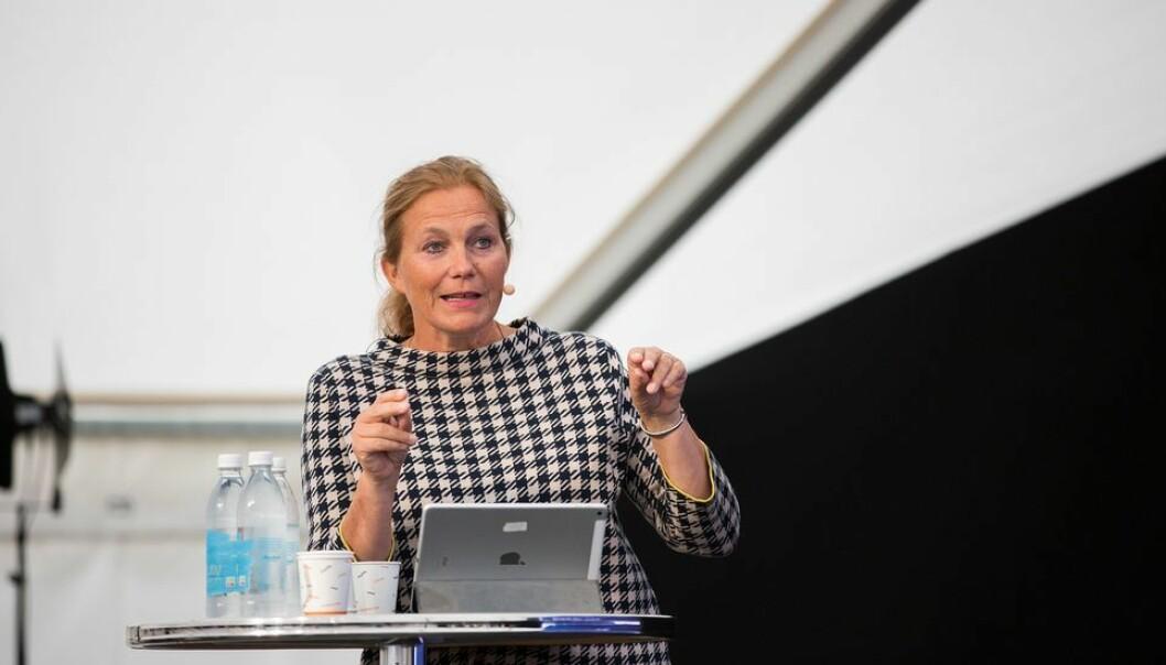 Alexandra Bech Gjørv mener Aksel Tjoras innlegg forvrenger hennes uttalelser. Her fotografert ved en tidligere anledning under et toppmøte om forskning under Arendalsuka.