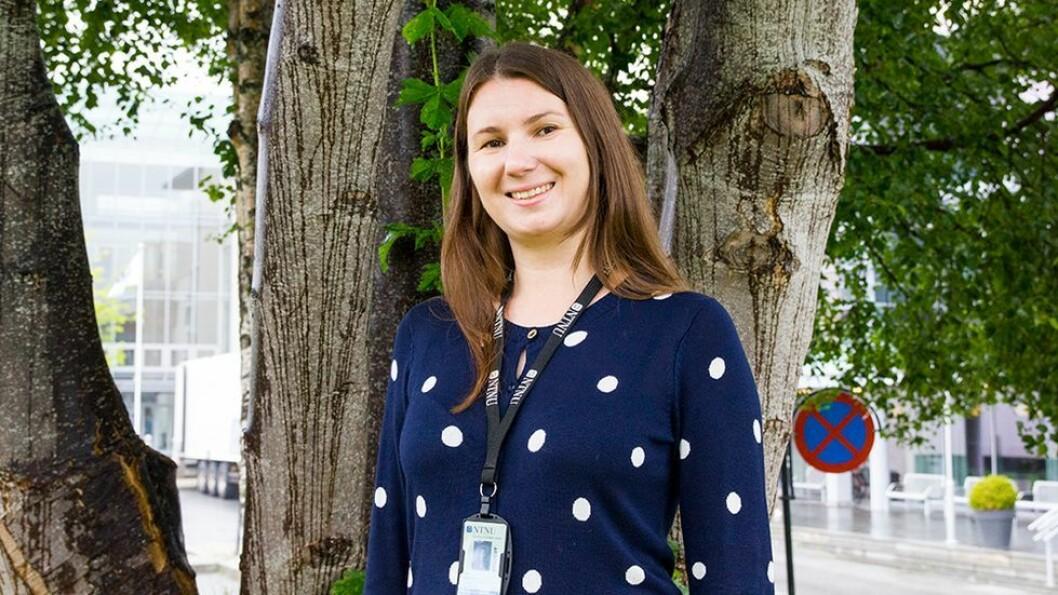 Alisa Tabatska gleder seg til å komme i gang med studiene og har foreløpig veldig gode inntrykk av både studiested, folk og natur.