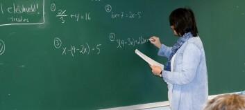 Flertall av partiene er mot kravet om å ha 4 i matte for å bli lærerstudent