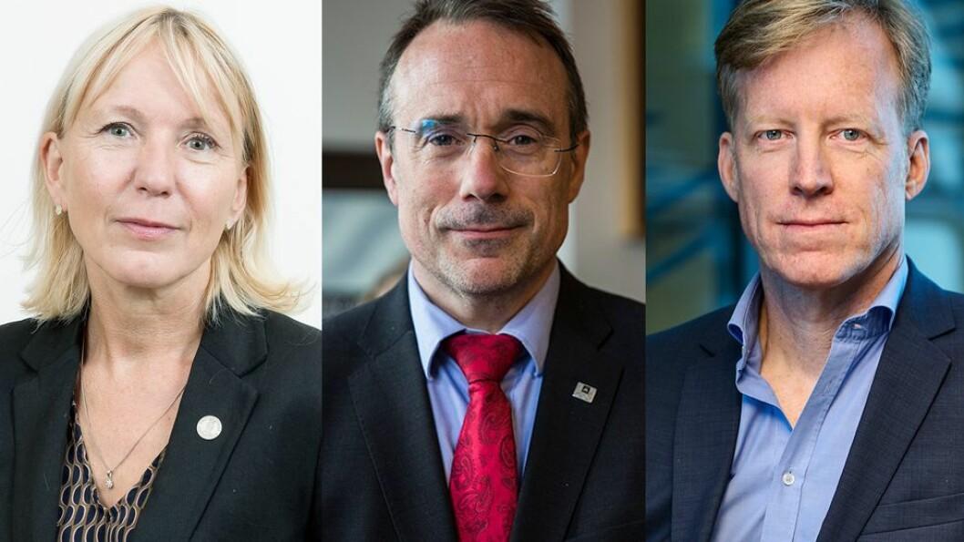 Margareth Hagen, prorektor ved UiB, Johann Roppen, rektor ved Høgskulen i Volda og Curt Rice, rektor ved Oslomet er ledere som har signert.