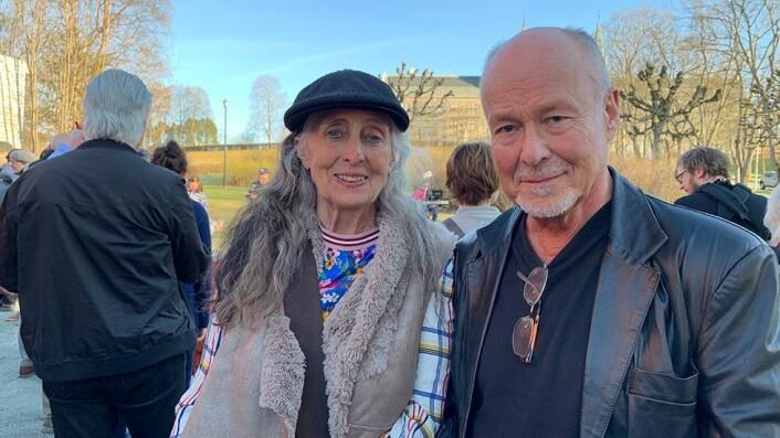 Berit Rusten og Stein Thue jobbet for å stanse motorvei gjennom Bakklandet for femti år siden. I dag møtte de opp fordi de ønsker at Grensen blir bevart.