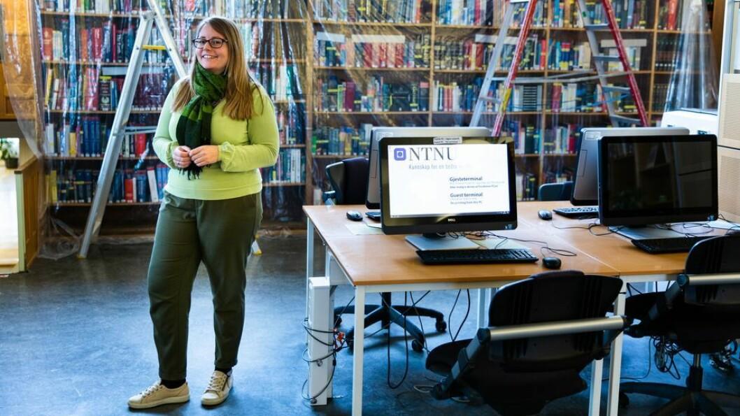 Førstebibliotekar Ingrid Heggland vil hjelpe forskerne med å gjøre dataene tilgjengelig på en god måte.