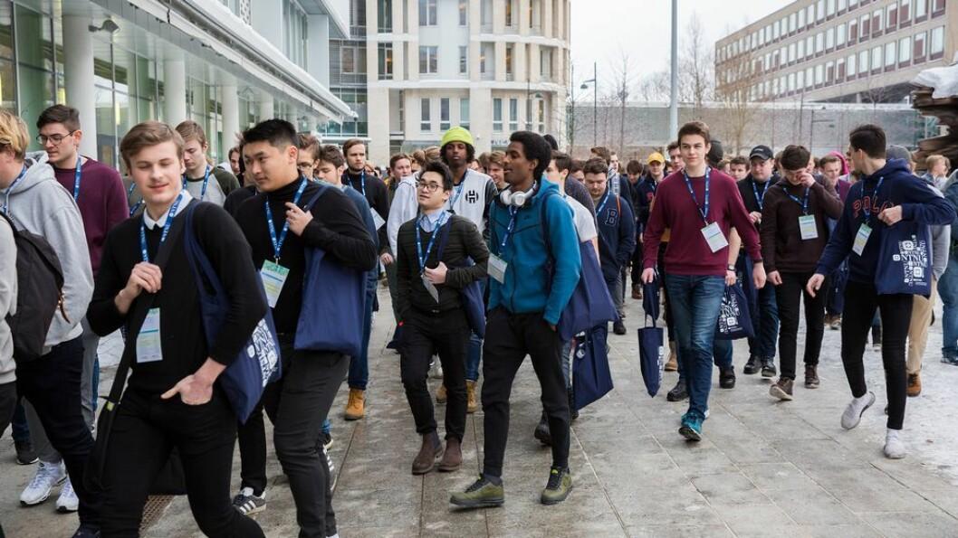 150 gutter og unge menn fra hele landet deltok på Guttedagen. Deltakerne går sisteåret på videregående eller har studiekompetanse og skal søke seg til høyere utdanning til høsten.