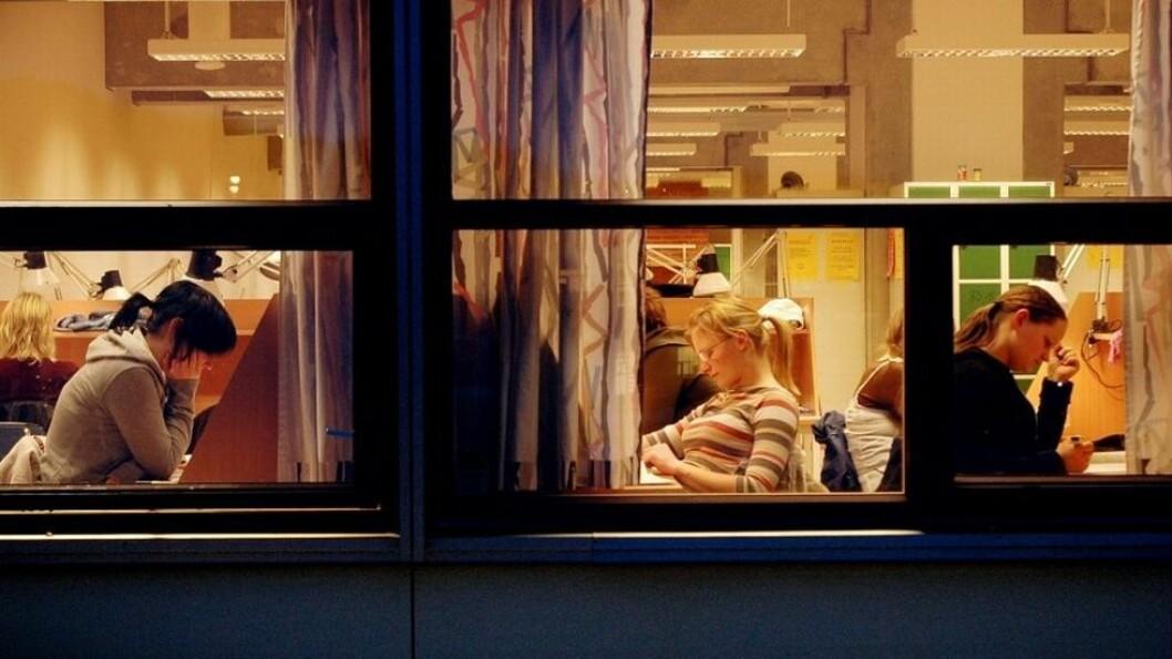 Dagens studenter er fornøyde med studieprogrammene, men mindre tilfredse med den faglige oppfølgingen (arkivfoto).