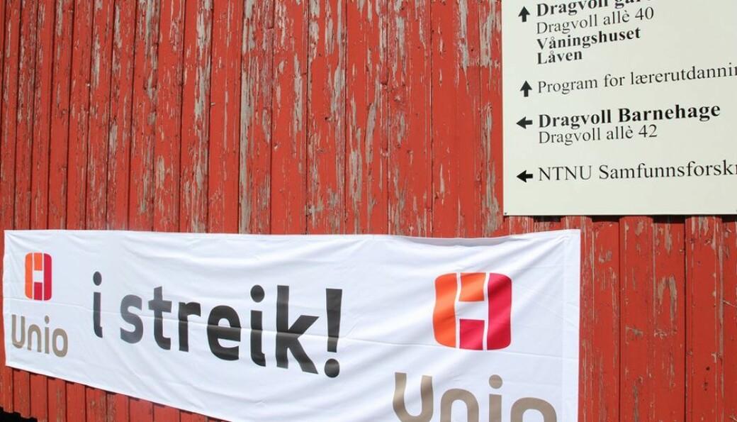 Unios grupper får det samme lønnstillegget som de andre i offentlig sektor, til tross for storstreik.