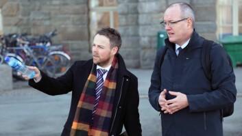 Verken Torbjørn Røe Isaksen eller Gunnar Bovim kom seg til det planlagte dialogmøtet i Molde.
