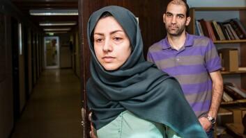 I mai fikk Hamideh Kaffash (t.v.) og Babak Khalaghi beskjed om at de ikke får innvilget midlertidig oppholdstillatelse i Norge. NTNU-stipendiatene føler at de blir diskriminert fordi de er født i Iran. Saken ble anket og Kaffash har nå fått beskjed om at UDI ikke tar anken til følge.
