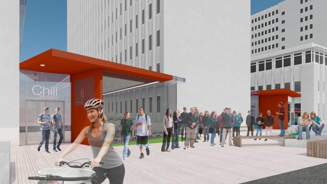 Campusprosjektet skal sørge for en levende campus. Én måte å få til det på er å ha studentboliger på campus.