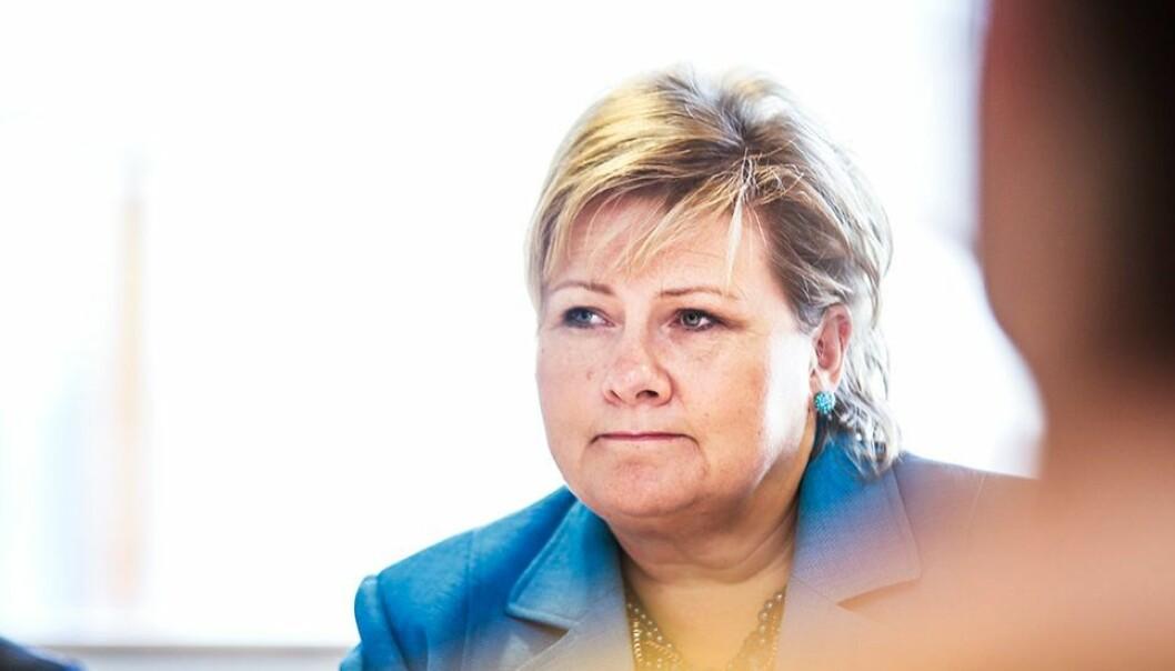 Statsminister Erna Solberg presenterte en rekke tiltak regjeringen vil vurdere å innføre om smittetrykket ikke går ned.