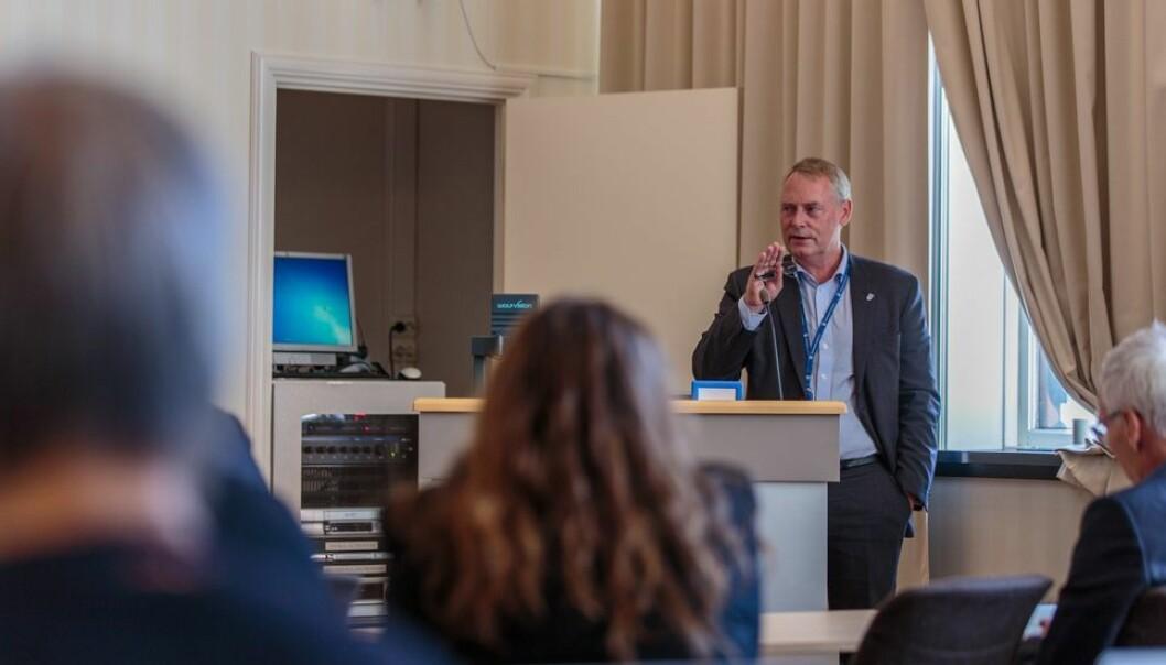 Kommunedirektør Morten Wolden forteller at det nå jobbes med testing av samtlige NTNU-studenter i Trondheim. Bildet er fra en tidligere anledning.