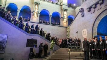Doktorpromosjonen ble hentet hjem til aulaen i hovedbygningen på Gløshaugen for tre år siden.
