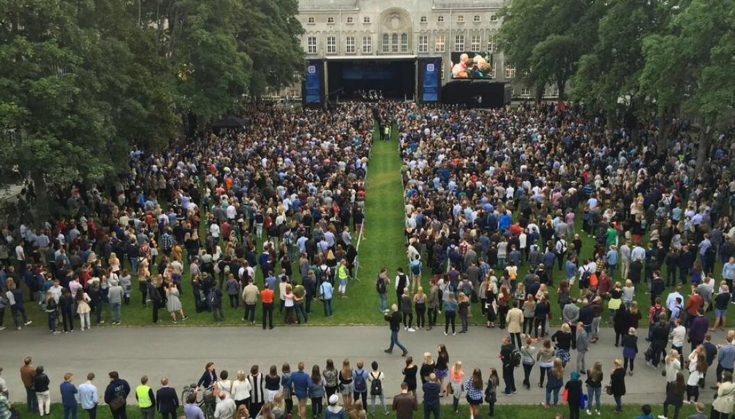 Flere søker seg til universitetene enn noen gang. (arkivfoto fra immatrikuleringen).