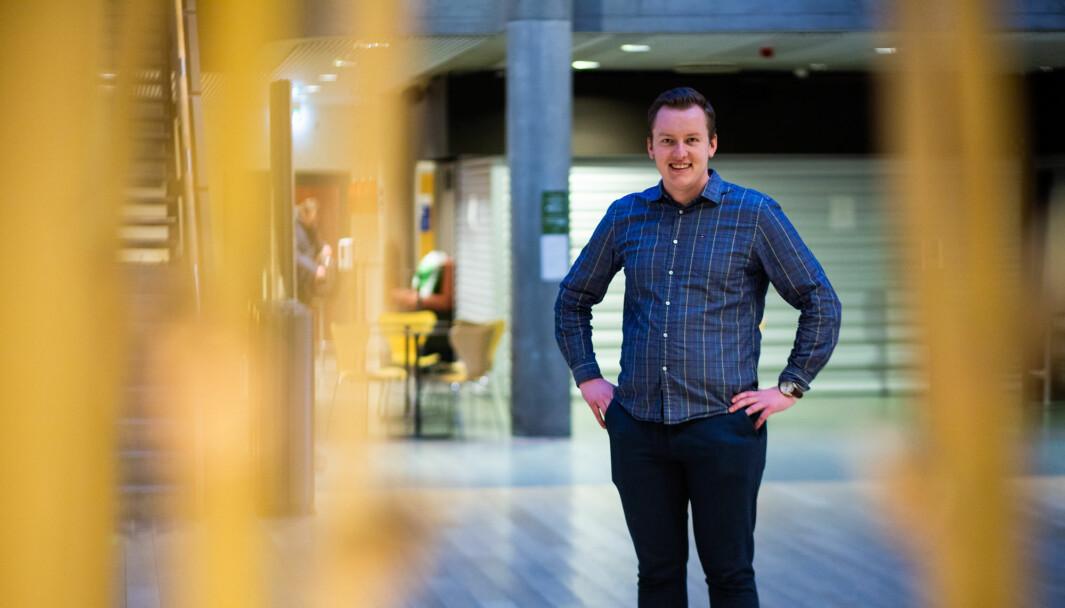 Andreas Knudsen Sund, leder i Studenttinget, er svært fornøyd med at milliarden er i havn